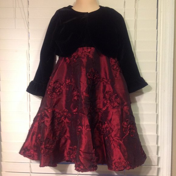 Good Lad Red and Black Formal Dress with Jacket